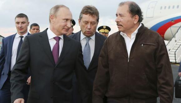 Vladimir Putin se entrevistó una hora con Daniel Ortega en Managua. (Reuters)