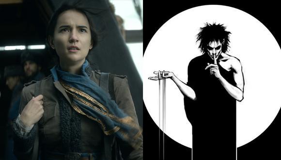 """Izq.: Jessie Mei como Alina Starkov, protagonista de """"Shadow and Bone"""". Der.: Ilustración de Morfeo, protagonista de """"The Sandman"""". Fotos: Netflix/ DC Comics."""