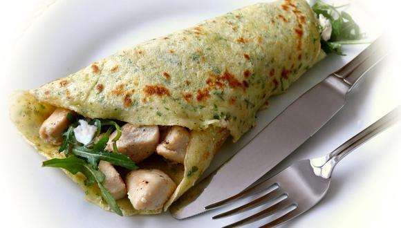 Las crepas saladas son una gran opción para el desayuno o cena ligera. (Foto: Pixabay)