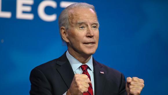El presidente electo de EE. UU., Joe Biden, habla antes de anunciar que su equipo tiene la tarea de lidiar con la pandemia Covid-19 en The Queen en Wilmington, Delaware. (Foto: Jim WATSON / AFP)