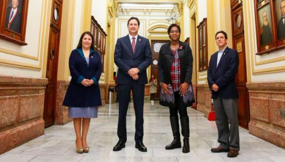 La lista de Fuerza Popular a la Mesa Directiva del Congreso es encabezada por Daniel Salaverry e integrada por Leyla Chihuán, Segundo Tapia y Yeni Vilcatoma. (Foto: Fuerza Popular)