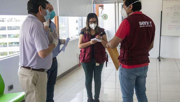 Servir está facultada para dar inicio a acciones de supervisión, con el fin de verificar el cumplimiento de los protocolos sanitarios. (Foto: Servir)