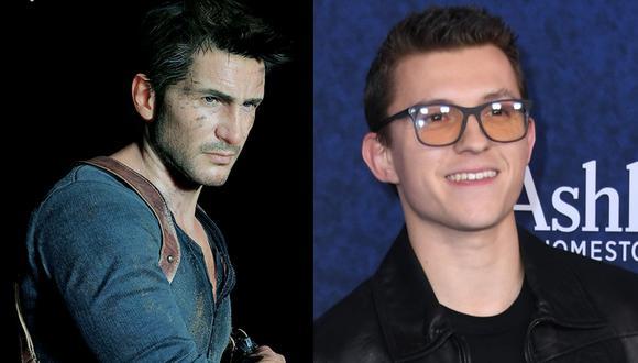 """A la izquierda, el personaje Nathan Drake tal y como aparece en el videojuego """"Uncharted 4"""". A la derecha Tom Holland, actor que lo interpretará en la cinta producida por Sony Pictures. Fotos: Naughty Dog/ Valerie Macon para AFP."""