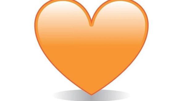 ¿Sabes realmente lo que significa el emoji del corazón naranja en WhatsApp? (Foto: Emojipedia)