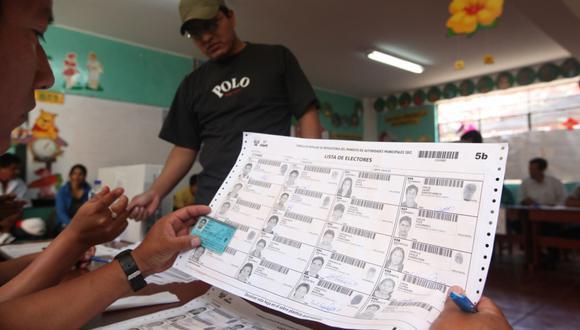 La ONPE informa qué hacer si tu nombre no aparece en el padrón electoral el día de los comicios. (Foto: GEC)