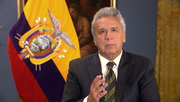 El presidente de Ecuador, Lenín Moreno, declaró estado de excepción debido al auge del contagio por coronavirus covid-19. (Foto: AFP).