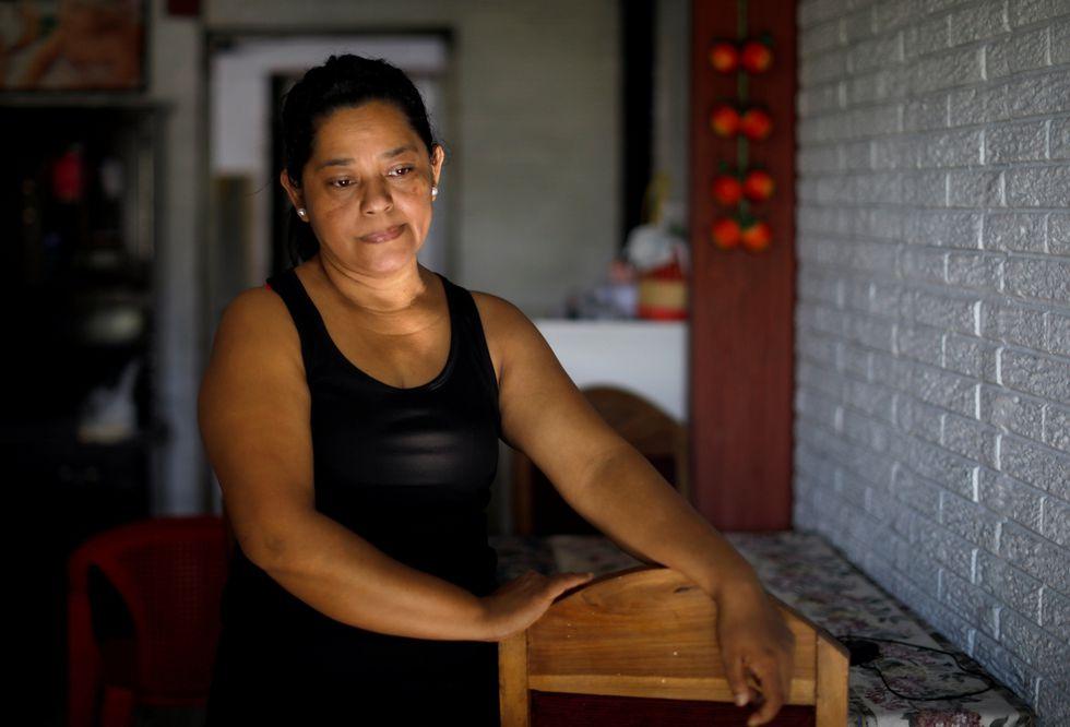 Rosa Ramírez, madre de Óscar Alberto Martinez Ramírez y abuela de Valeria. (Reuters).