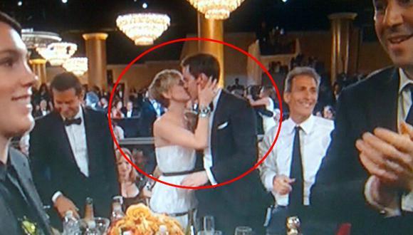 Jennifer Lawrence y el beso que no se vio en el Globo de Oro