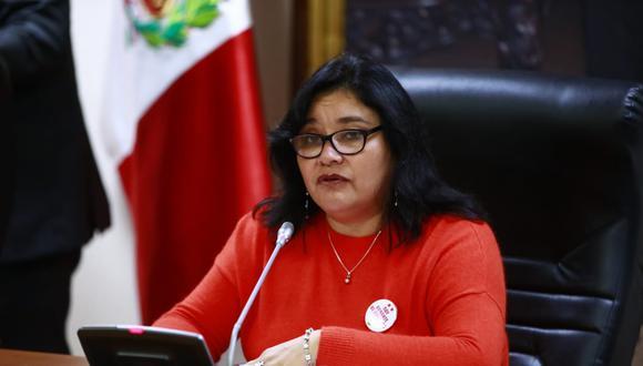 """La titular de la Comisión de Ética, Janet Sánchez, dijo que el tema de la """"conciliación"""" ya se ha dado antes en el grupo de trabajo. (Foto: Congreso)"""