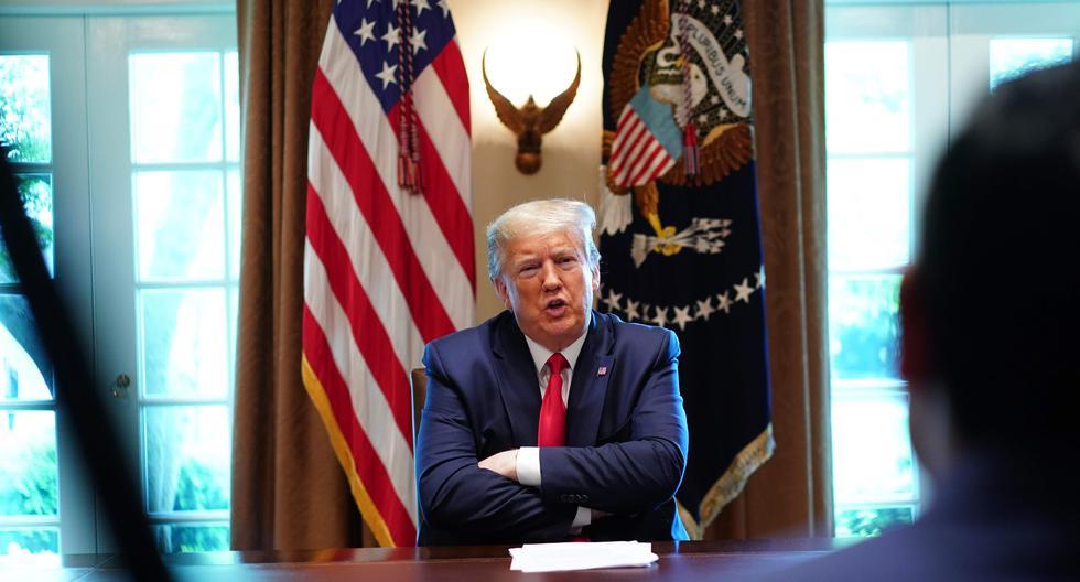 """El presidente de Estados Unidos ordenó suspender los aportes de su país a la OMS, que en el periodo 2016-2017 representó el 76% de aportaciones voluntarios, acusando al ente de un """"grave mal manejo"""" de la pandemia de coronavirus COVID-19. (Foto: AFP / MANDEL NGAN)"""