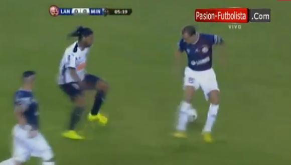 Ronaldinho y su clase: mira la huacha que hizo en la Recopa