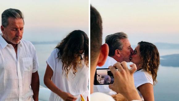 Cantante se mostró muy alegre por la ceremonia que le realizaron sus hijos en Santorini. (Foto:@ricardomontaner)