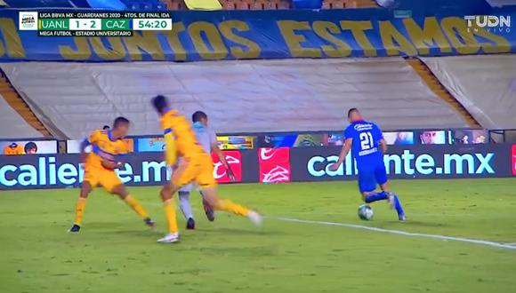 Tigres vs. Cruz Azul: Jonathan Rodríguez y el 2-1 a favor de la 'Máquina Cementera'   VIDEO