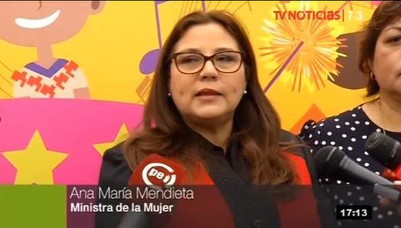 La ministra de la Mujer, Ana María Mendieta, pidió a los candidatos mantener el nivel y no fomentar la discriminación. (Foto: TV Perú)