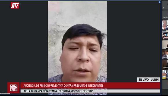 Eduardo Bendezú aseguró que no las autoridades no lo hallaron en su vivienda el día que se ejecutó la orden de detención preliminar en su contra porque se encontraba realizando actividades políticas. (Foto: Captura)
