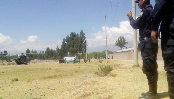 Los cuerpos de los tres agentes fueron sepultados hoy en las ciudades de Huancayo y Chupaca (Foto: Junior Meza)