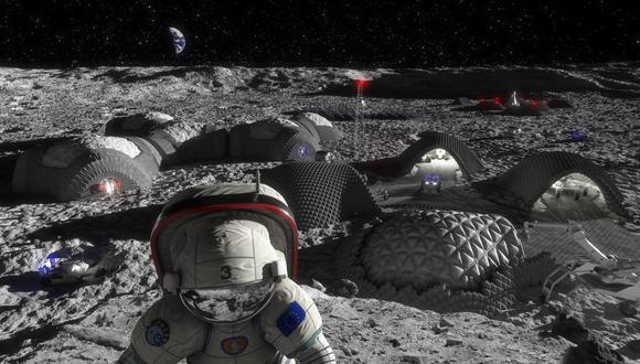 Ilustración de una base lunar. (Foto: RegoLight/ESA)