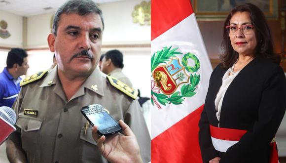 Cluber Aliaga, ex ministro del Interior, habría intentando grabar a la premier Violeta Bermúdez durante reunión
