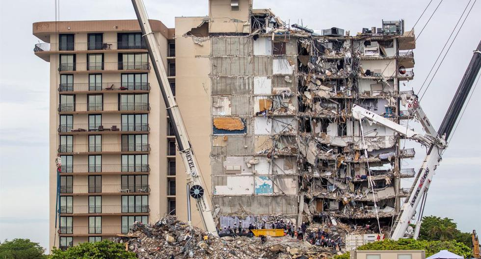 Miami Building Collapse: The threat of storm Elsa accelerates the demolition of the building