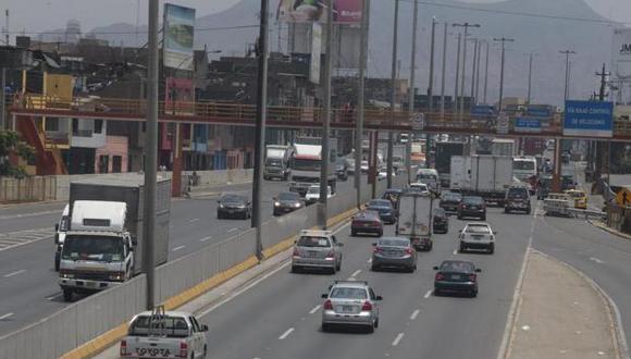 Durante los trabajos se restringirá totalmente el tránsito en sentido norte y sur de Evitamiento (Archivo El Comercio)
