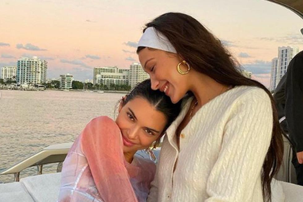 Las mejores amigas Kendall Jenner y Bella Hadid se mostraron muy tiernas en sus publicaciones en redes sociales. (Foto: Instagram)
