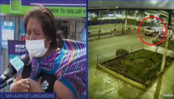 Hermana de la víctima pidió ayuda para que las autoridades puedan identificar y posteriormente capturar a los autores del asalto que provocó la muerte de Richard Tarazona Guadalupe en SJL. (Captura: Canal N)