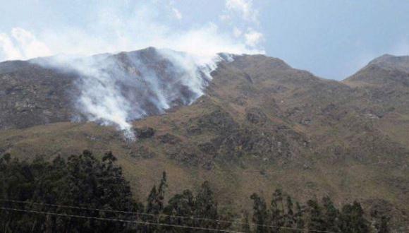 incendio forestal distrito de Machu Picchu