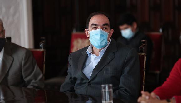 Yonhy Lescano, candidato presidencial por Acción Popular, saludó que el Congreso inicie indagaciones sobre la vacuna de Sinopharm. (Foto: PCM / Referencial)