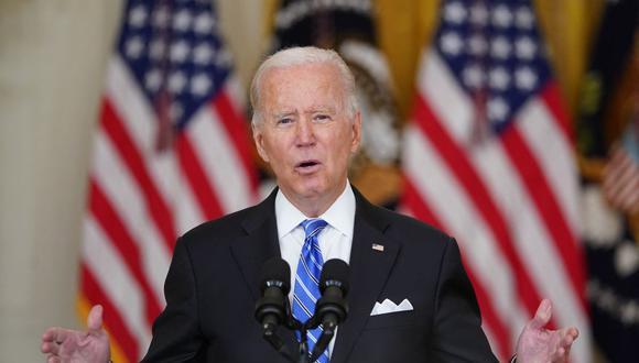 El presidente de Estados Unidos, Joe Biden, habla sobre su agenda económica en la Casa Blanca el 11 de agosto de 2021. (Foto de MANDEL NGAN / AFP).