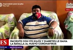 Tumbes: hombre con 170 kilos y diabetes ganó la batalla al Covid-19