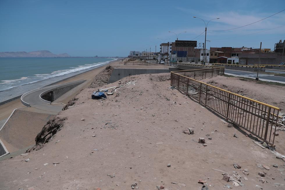 Este Diario realizó ayer un recorrido y constató que los trabajos en la Costa Verde del Callao siguen paralizados. La obra fue suspendida por el escándalo de Odebrecht (Hugo Pérez / El Comercio)