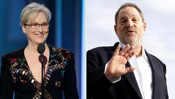 """Meryl Streep se refirió a Harvey Weinsten como """"Dios"""" en el 2012. Actualmente, el productor es denunciado por acoso sexual. (Fotos: Agencias)"""
