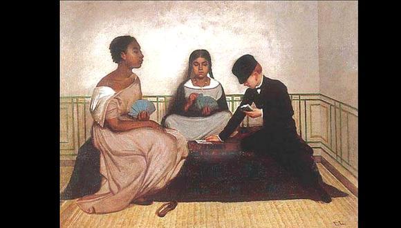 Las tres razas, del pintor Francisco Laso, 1859. Imagen: MALI. Fondo Alicia Lastres de la Torre.