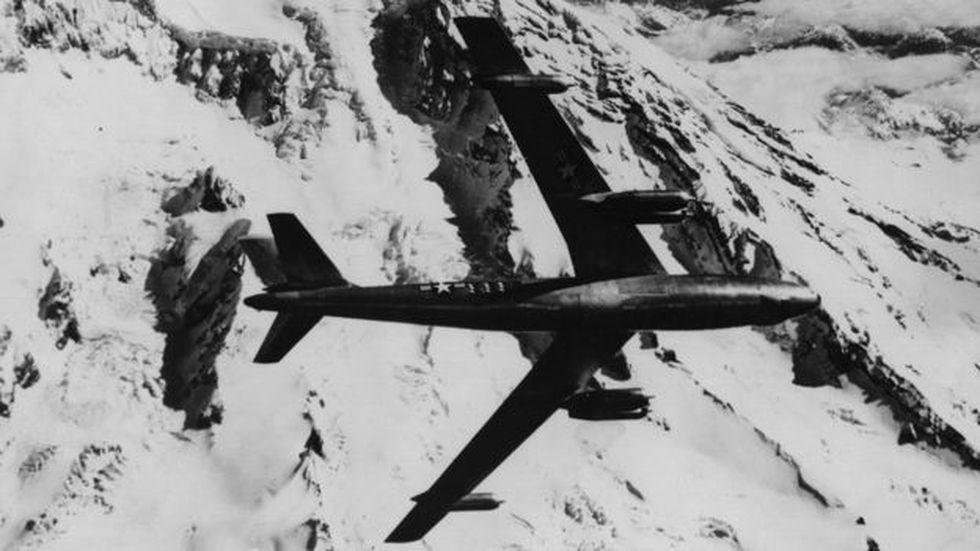 El bombardero B-47 de la Fuerza Aérea de Estados Unidos estaba diseñado para vuelos de larga duración a grandes alturas para evadir la interceptación de aviones enemigos. (Getty)