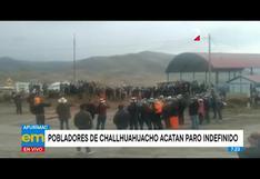 Apurímac: pobladores de Challhuahuacho acatan paro indefinido y exigen presencia de la PCM