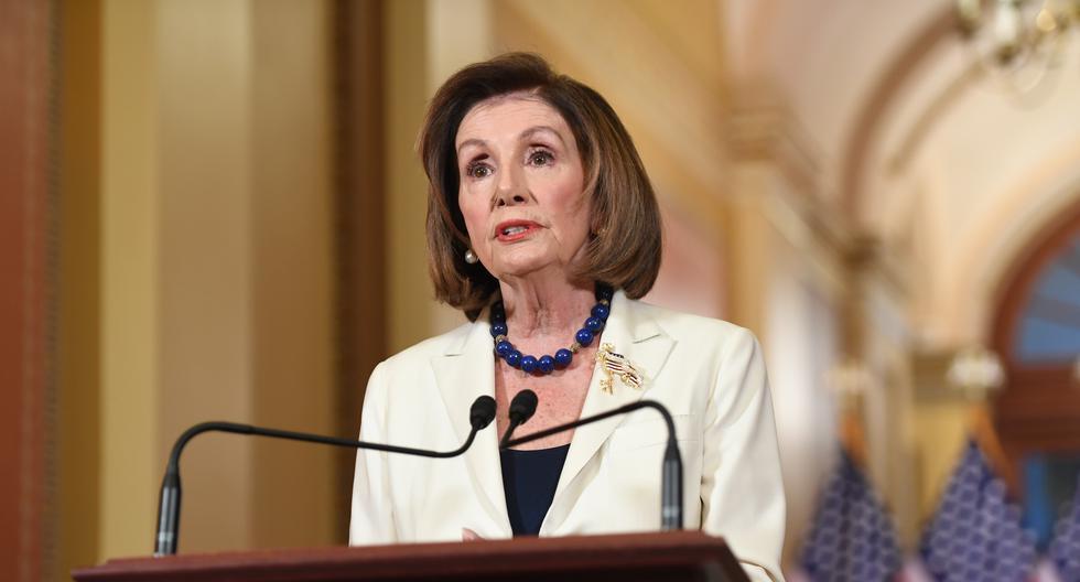 Nancy Pelosi pide iniciar la redacción de los cargos del juicio político a Donald Trump. Foto: AFP