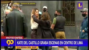 Kate del Castillo y su elenco grabaron escenas en el Centro de Lima
