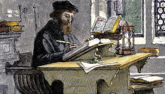 No parece una ocupación muy peligrosa. Lo que John Wycliffe está haciendo es sólo traducir la Biblia del latín al inglés...