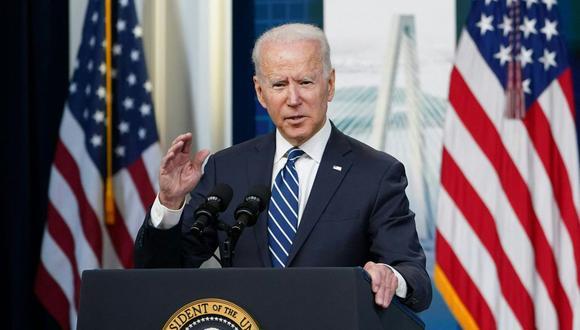 El presidente de los Estados Unidos, Joe Biden, habla en la Casa Blanca, Washington, el 2 de julio de 2021. (MANDEL NGAN / AFP).