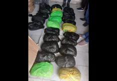 Arequipa: más de 60 kilos de marihuana fueron decomisados tras intervenir a dos jóvenes en Cerro Colorado
