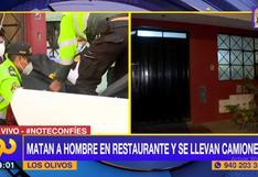 Los Olivos: matan a balazos a un hombre cuando almorzaba en restaurante