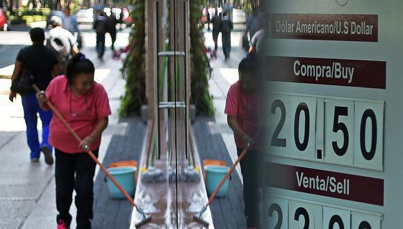 El dólar se cotizaba en 20,1 pesos en México este lunes. (Foto: AFP)