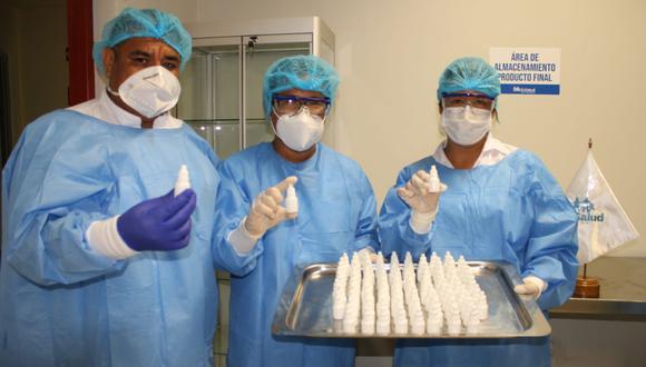 San Martín: EsSalud Moyobamba comenzó a producir ivermectina con capacidad de 20 mil dosis mensuales. (Foto: EsSalud)