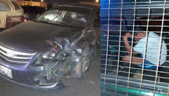El efectivo policial conducía en estado de ebriedad, según el dosaje etílico que se le practicó. (Foto: cortesía)