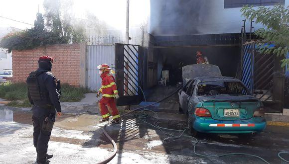 Arequipa: incendio generó alarma en los vecinos del distrito José Luis Bustamante y Rivero (Foto difusión).