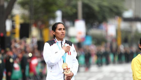 Gladys Tejeda ganó la medalla de oro en la maratón de Lima 2019. (GEC)