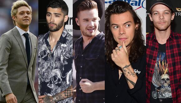 Niall Horan, Zayn Malik, Liam Payne, Harry Styles y Louis Tomlinson fueron parte del grupo One Direction que el 23 de julio cumple 10 años de fundación (Foto: AFP/EFE/Getty Images)