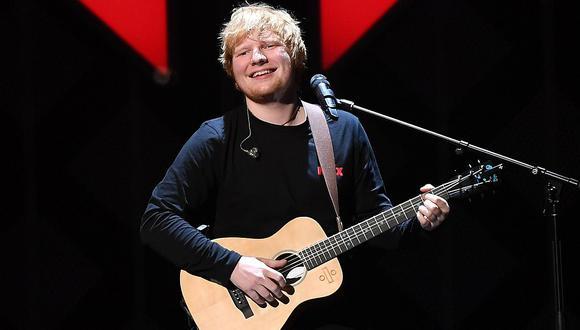 Ed Sheeran celebró su elección como artista de la década del Reino Unido. (Foto: AFP)