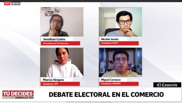 Cinco candidatos a la presidencial expusieron sus propuestas en debate de El Comercio.