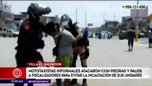 VES: enfrentamiento entre mototaxistas y fiscalizadores deja tres heridos